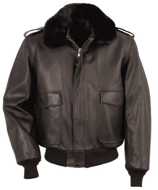 Schott 184SM Leather Bomber Jacket in Brown at Dave's New York