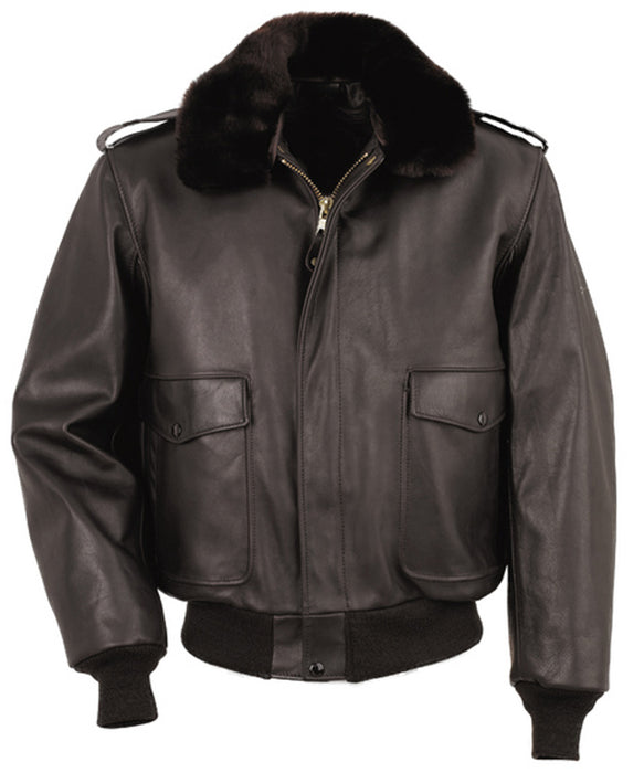 Schott 184SM Leather Bomber Jacket - Brown