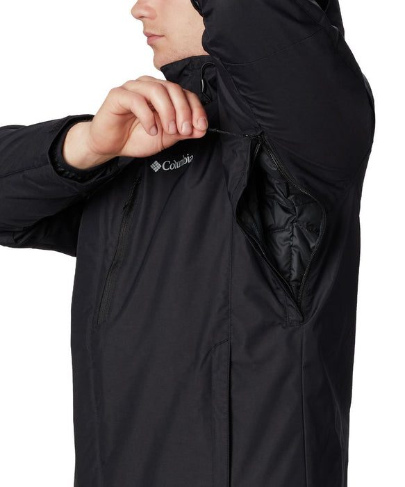 Columbia Men's Whirlibird IV Insulated Interchange Jacket in Black at Dave's New York