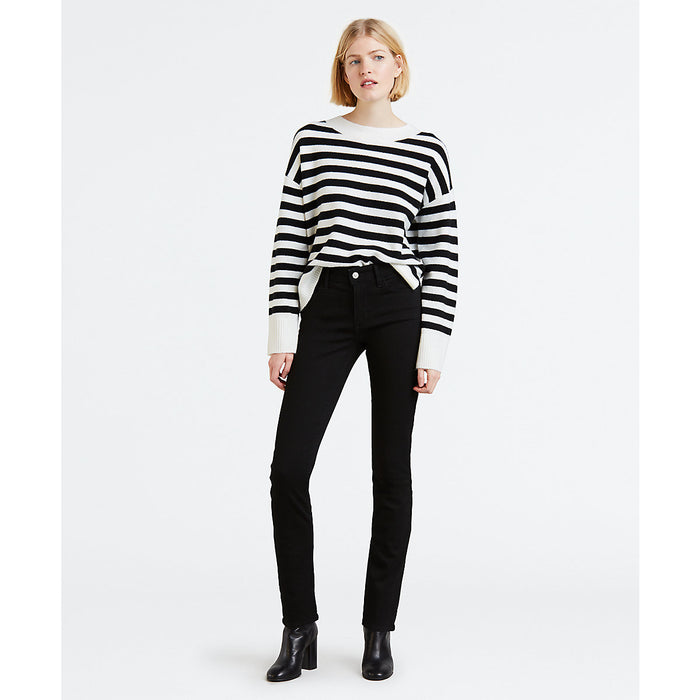 Levi's Women's Mid Rise Skinny Fit Jeans in Blackest Night at Dave's New York