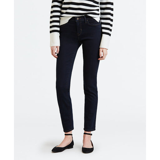Levi's Women's Mid Rise Skinny Fit Jeans in Deep Indigo Blue at Dave's New York
