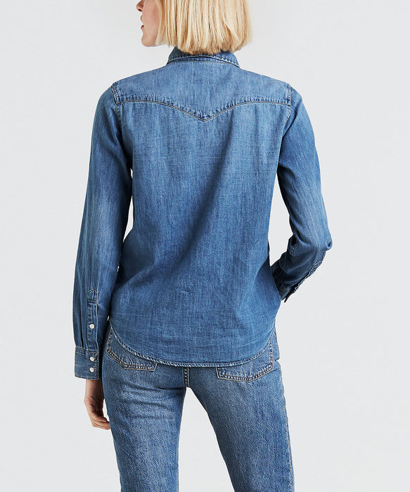 Levi's Ladies Ultimate Western Denim Shirt in Love Blue at Dave's New York