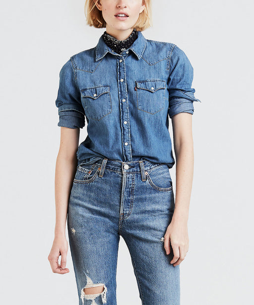 Levi's Ladies Ultimate Western Denim Shirt - Love Blue