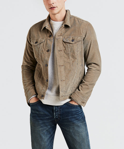 Levi Men's The Trucker Jacket - Lead Grey Corduroy