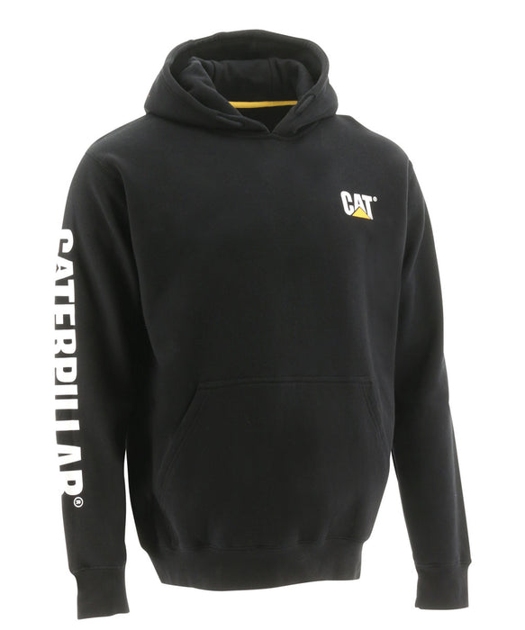 CAT Trademark Banner Hooded Sweatshirt - Black at Dave's New York