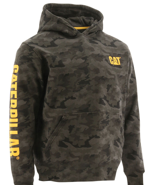 CAT Trademark Banner Hooded Sweatshirt - Night Camo at Dave's New York