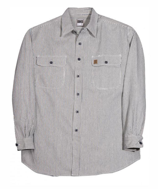 Big Bill Men's Button Up Hickory Stripe Work Shirt - model 193