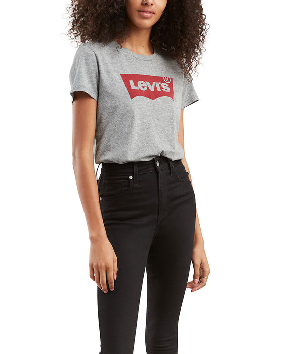 Levi's Ladies The Perfect Tee - Smokestack Grey Heather