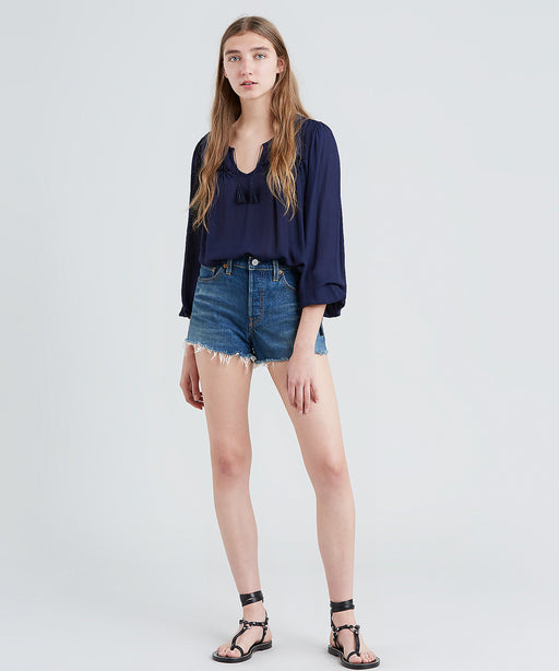 Levi Women's 501 Denim Shorts - Dark Thirty