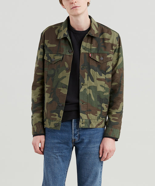 Levi Men's The Trucker Jacket in Phalarope Camo at Dave's New York