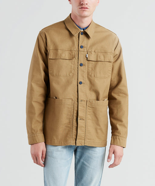 Levi Workwear Utility Trucker Jacket in Ermine Canvas at Dave's New York