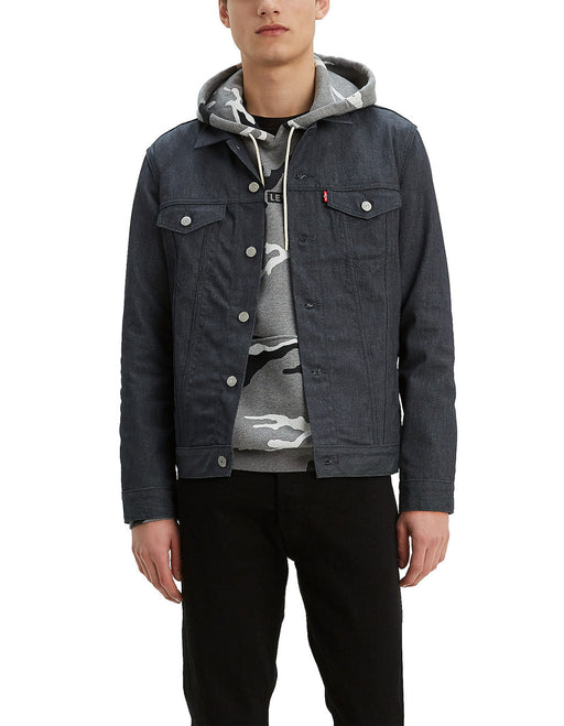 Levi Men's The Trucker Jacket in Grey Reflective Crispy at Dave's New York
