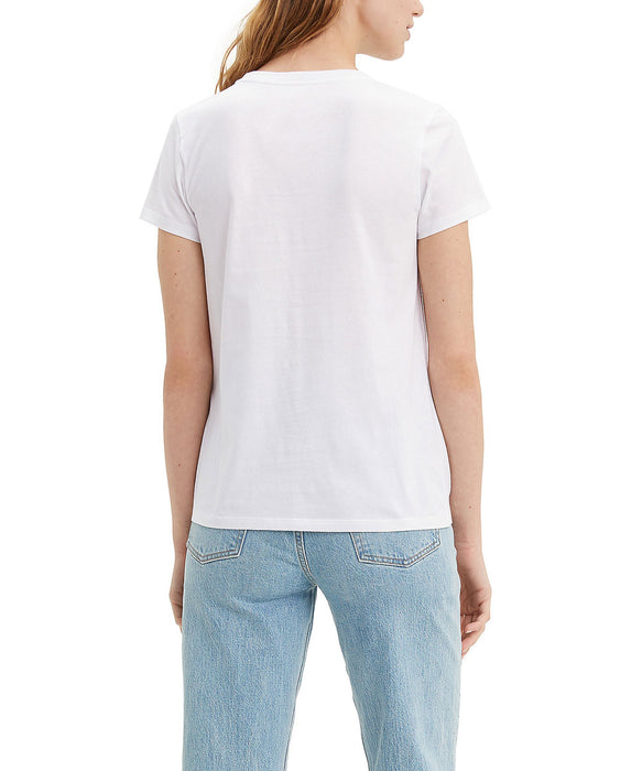 Levi's Women's The Perfect Tee 90s Serif Logo in White at Dave's New York