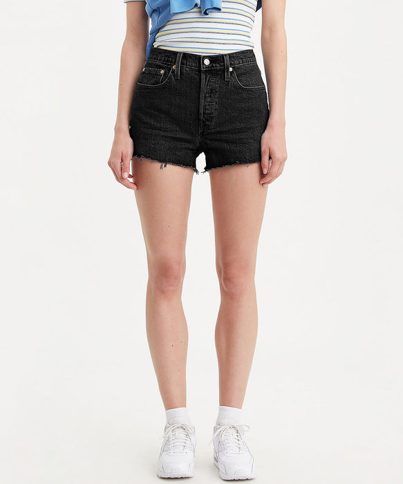 Levi's Women's 501 High Rise Shorts - Lunar Black