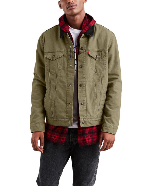 Levi's Men's Lined Trucker Jacket - Olive Night Canvas