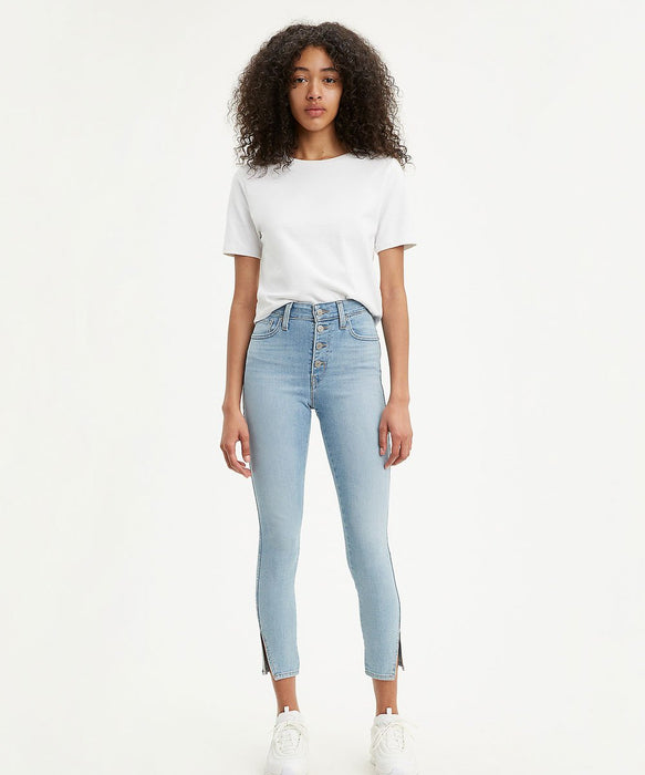 Levi's Women's 721 Skinny Ankle, Exposed Buttons in Shy Away at Dave's New York