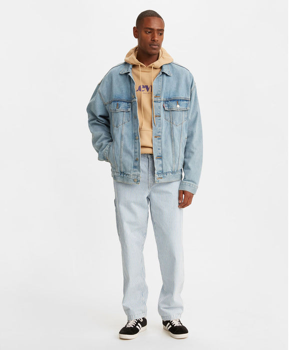 Levi Men's Tapered Carpenter Jean - Railroad Stripe at Dave's New York