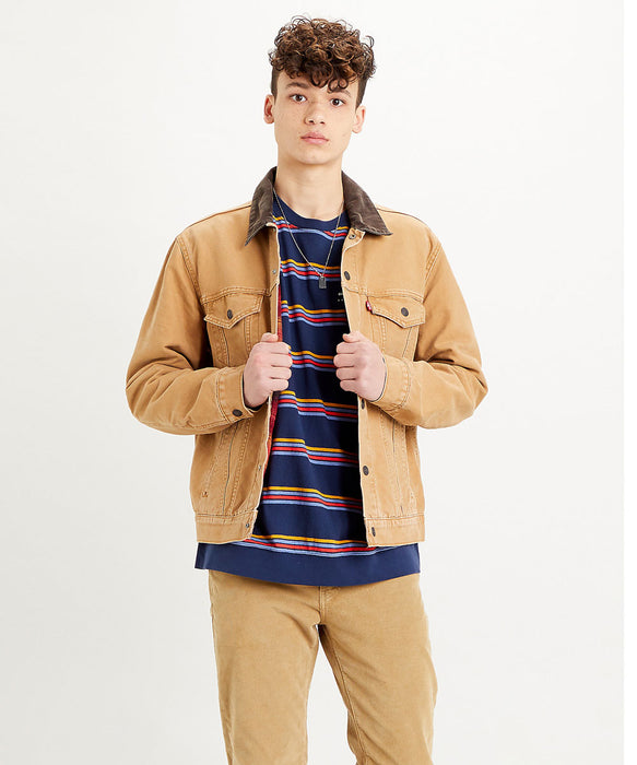 Levi's Men's Lined Trucker Jacket in Dijon Canvas at Dave's New York