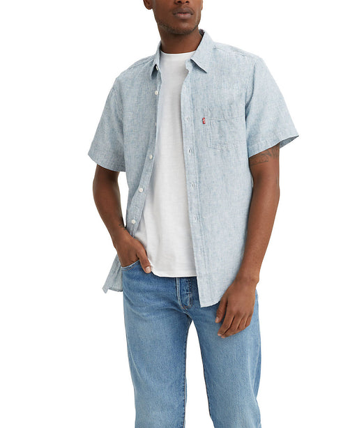 Levi's Men's Classic Short Sleeve Button Down Shirt - Blue Sapphire at Dave's New York