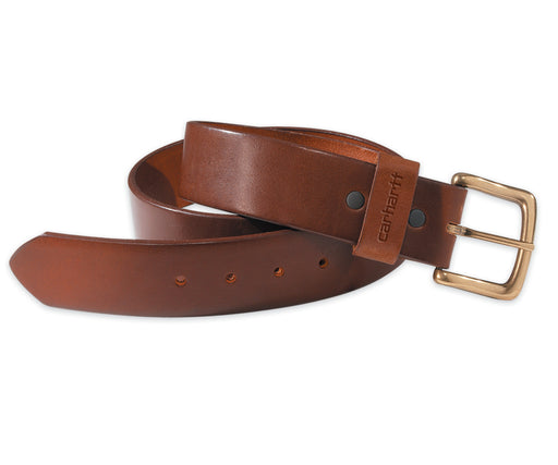 Carhartt Journeymen Leather Belt in Brown at Dave's New York