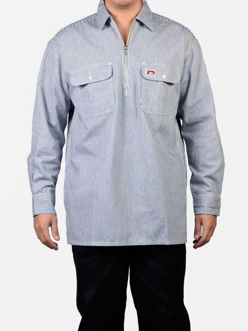 Ben Davis Long Sleeve Hickory Stripe Work Shirt