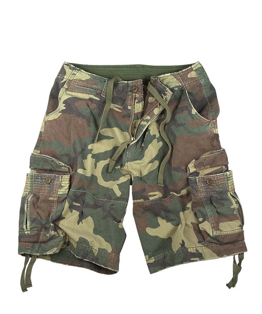 Rothco Army Style Vintage Infantry Utility Shorts – Woodland Camo