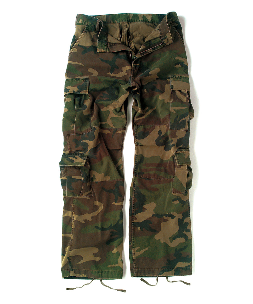 Rothco Vintage Paratrooper Fatigue Pants in Woodland Camo at Dave's New York