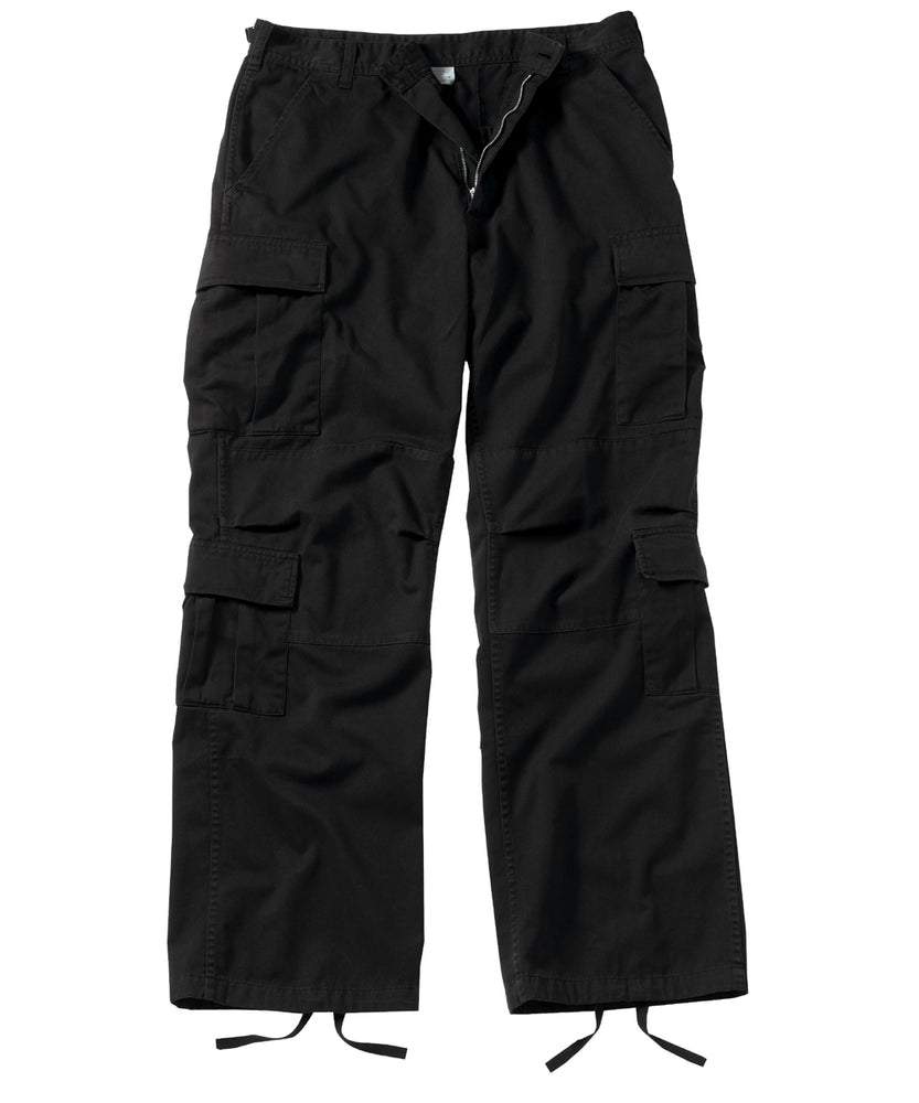 Rothco Vintage Paratrooper Fatigue Pants in Black at Dave's New York