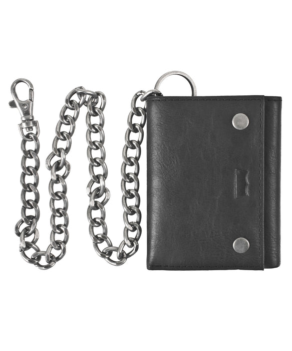 Levi's Leather Wallet with Chain - Black