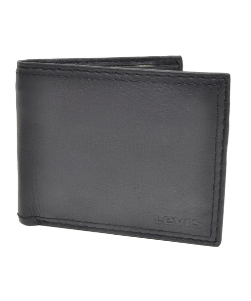 Levi's Leather Slim Fold Wallet - Black