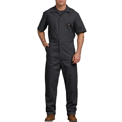 Dickies Men's Short Sleeve Coverall in Black at Dave's New York