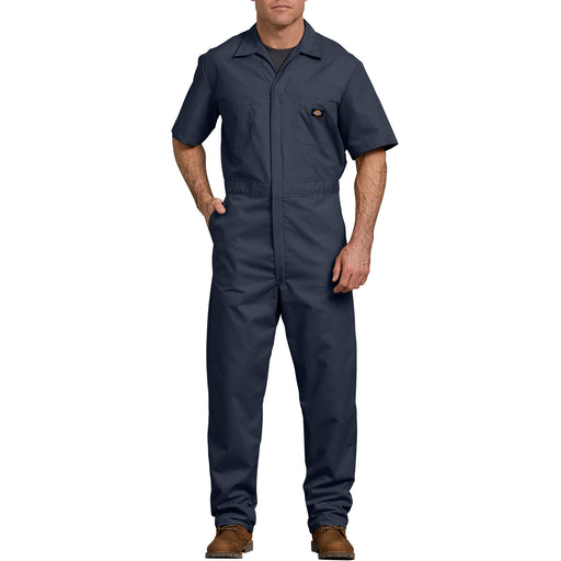 Dickies Men's Short Sleeve Coverall in Dark Navy at Dave's New York