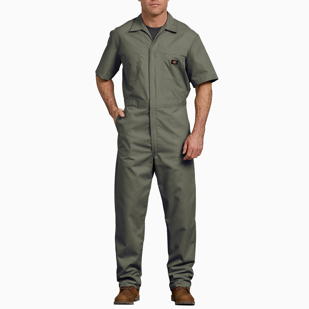 Dickies Men's Short Sleeve Coverall in Moss at Dave's New York