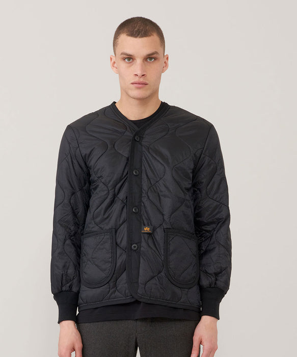 Alpha Industries ALS/92 Field Coat Liner in Black at Dave's New York