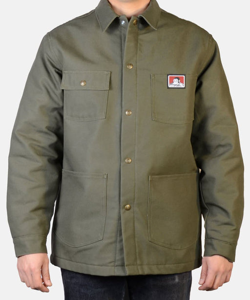 Ben Davis Men's Original Chore Coat in Olive Duck at Dave's New York