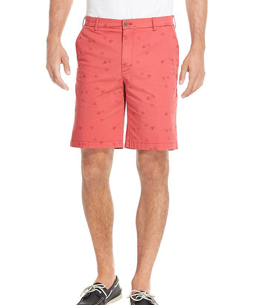 Izod Saltwater Stretch Lobster Print Shorts