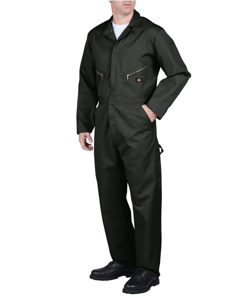 Dickies 48799 Long Sleeve Coverall in Olive Green at Dave's New York