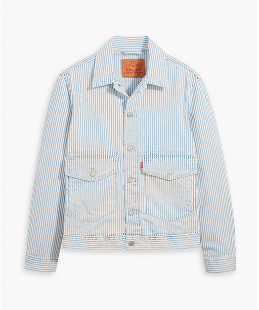 Levi's Men's Railroad Stripe At Work Trucker Jacket at Dave's New York