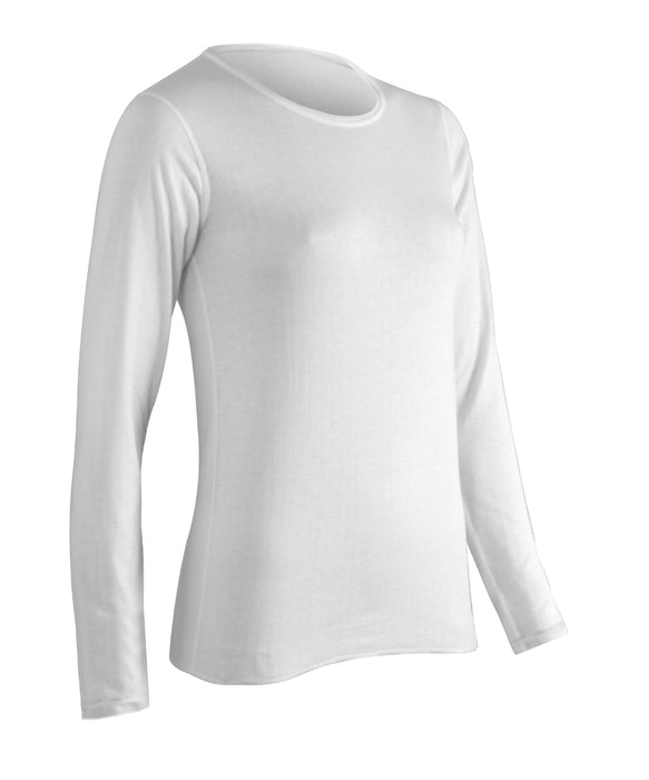 ColdPruf Women's Authentic Wool Thermal Top in Winter White at Dave's New York