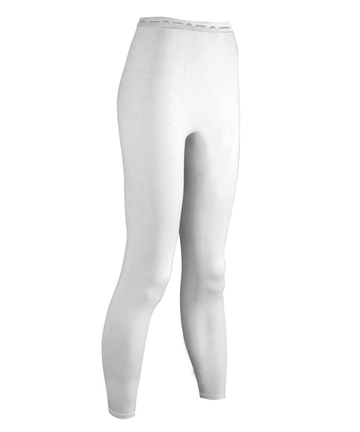 ColdPruf Women's Authentic Wool Thermal Bottoms in Winter White at Dave's New York