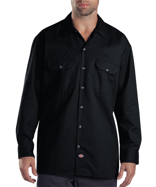 Dickies Long Sleeve Work Shirt in Black at Dave's New York