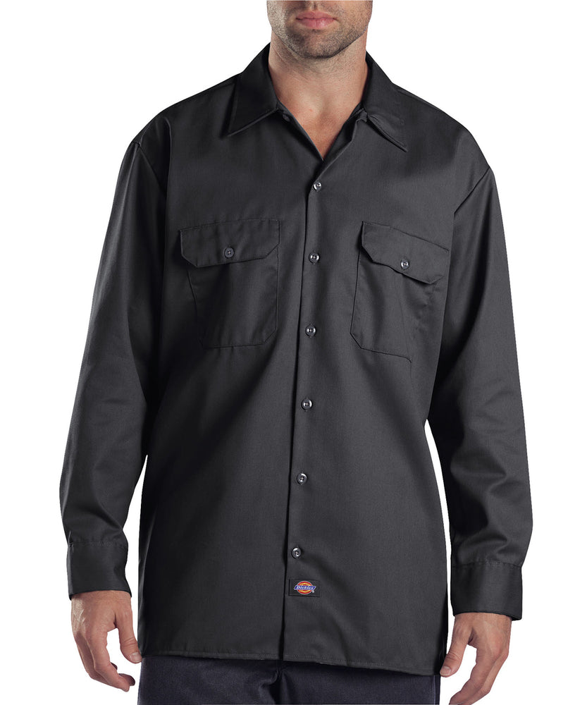 Dickies Long Sleeve Work Shirt in Charcoal at Dave's New York