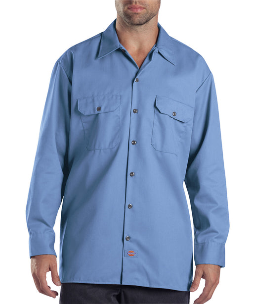 Dickies 574 Long Sleeve Work Shirt - Gulf Blue