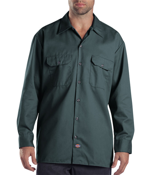 Dickies Long Sleeve Work Shirt in Lincoln Green at Dave's New York