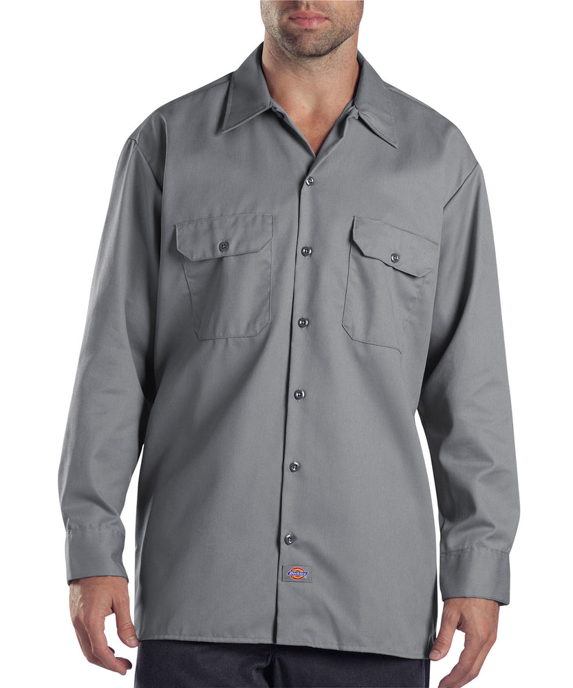 Dickies 574 Long Sleeve Work Shirt - Silver