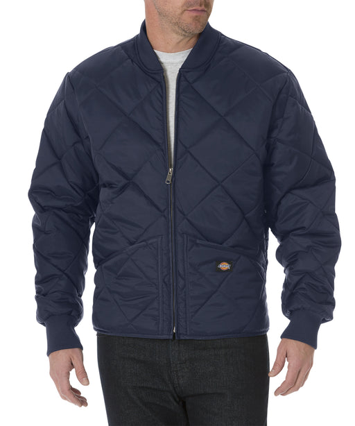 Dickies Diamond-Quilted Nylon Jacket in Dark Navy at Dave's New York