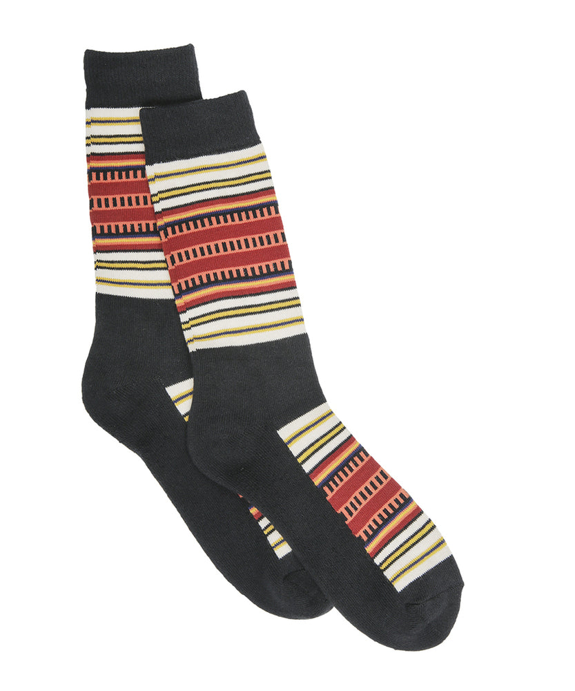 Pendleton National Park Striped Cotton Socks in Acadia Stripe at Dave's New York