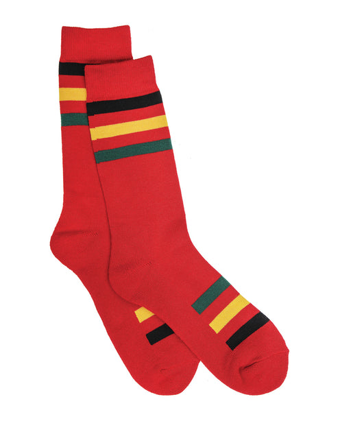 Pendleton National Park Striped Cotton Socks – Rainier Stripe