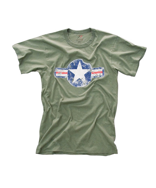Rothco Army Air Corps Vintage Military T-shirt in Olive Drab at Dave's New York