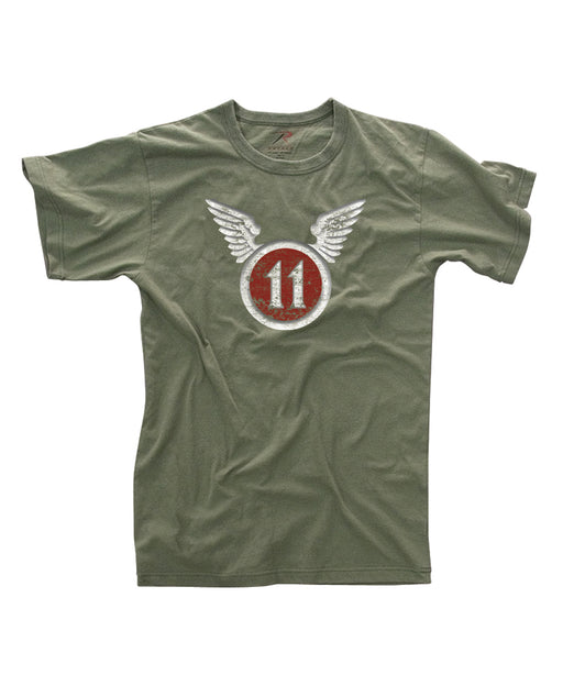 Rothco 11th Airborne Vintage Military Tee in Olive Drab at Dave's New York